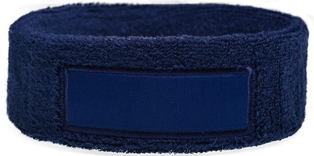 Hoofdband 18cm Met Label 9*3 cm Navy acc. Navy