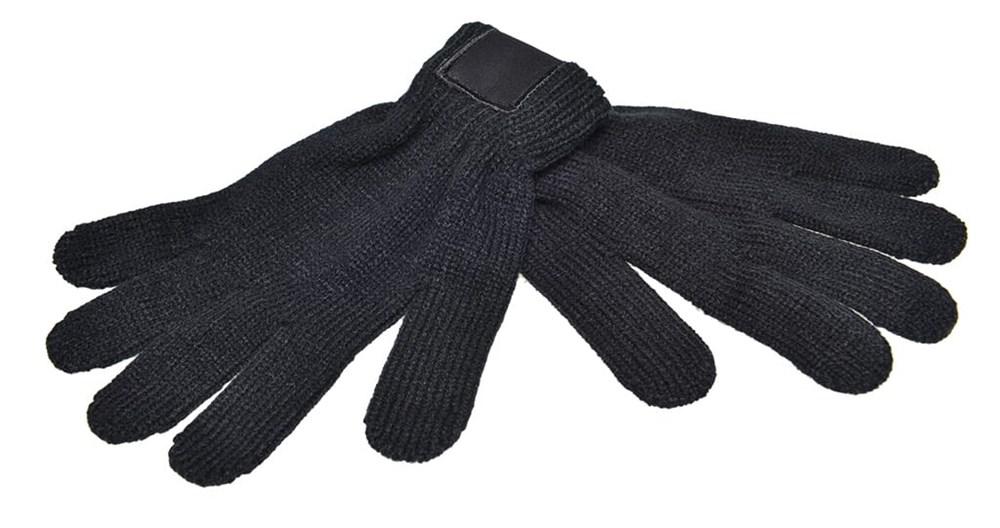 Retro gebreide hanschoenen met label