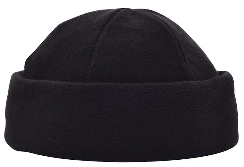 100% rPET Fleece muts Zwart acc. Zwart