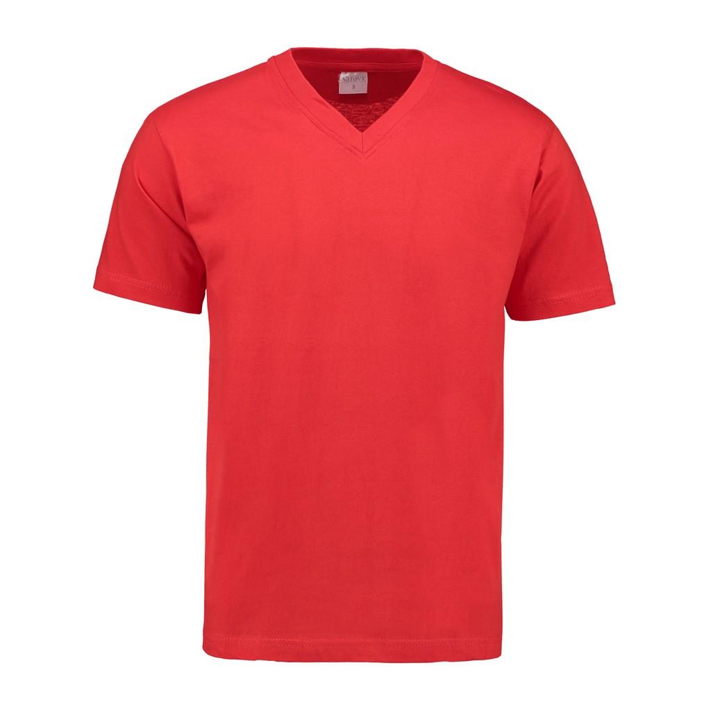 V-Hals T-Shirt 140 gr/m2 Rood S