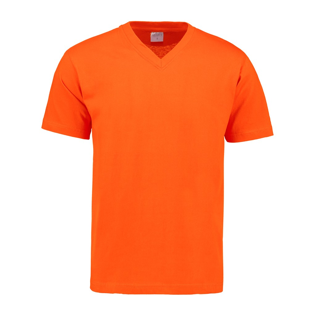 V-Hals T-Shirt 140 gr/m2 Oranje L