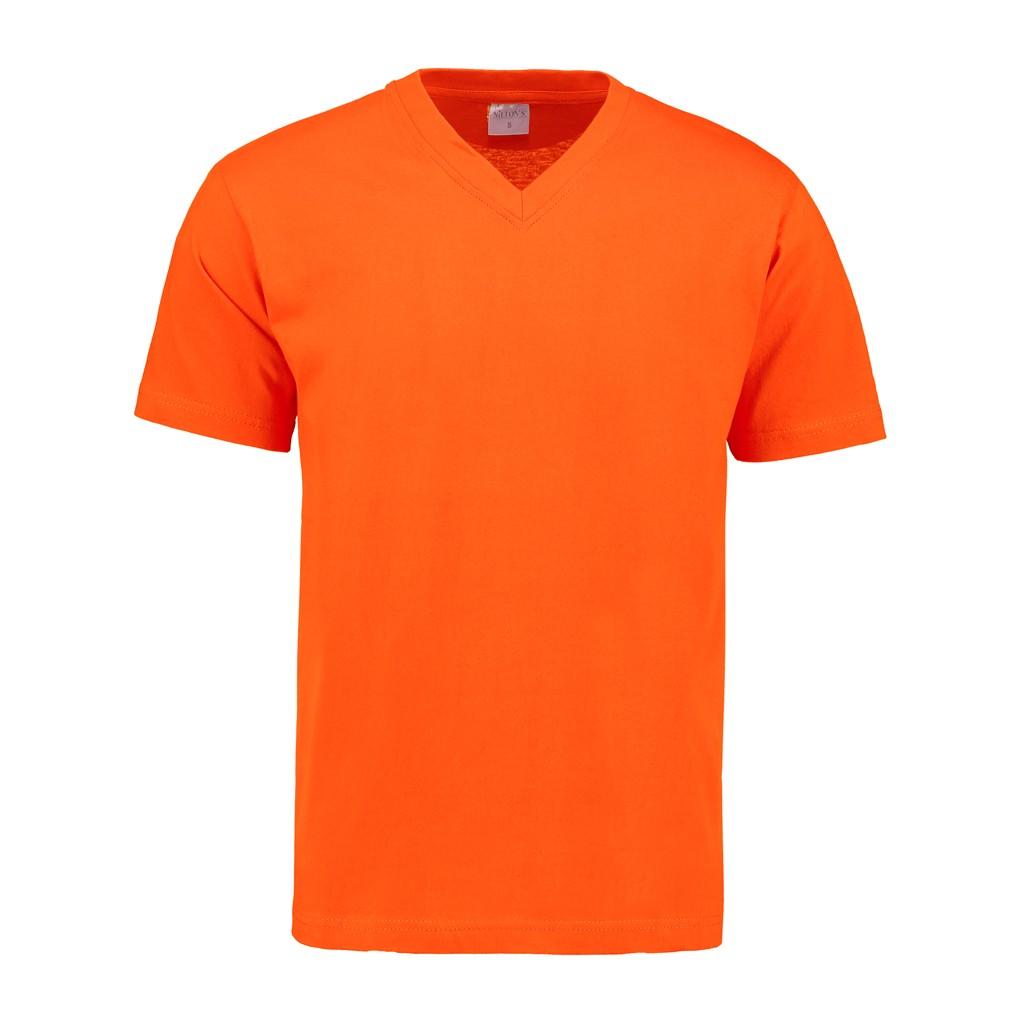 V-Hals T-Shirt 140 gr/m2 Oranje M