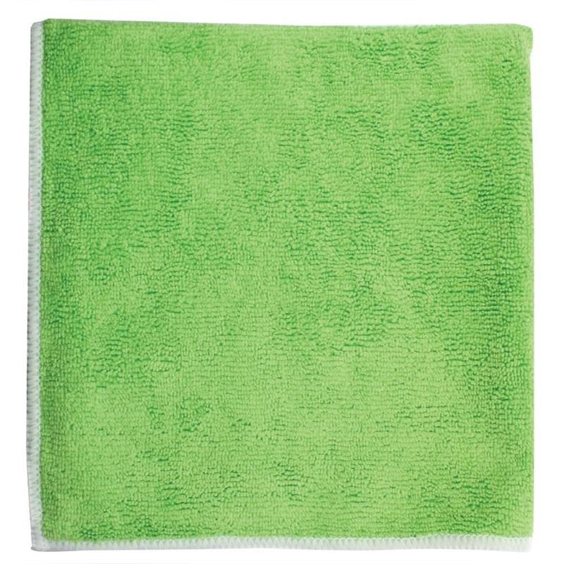 Micvrovezel Handdoek 40*40cm Groen acc. Wit