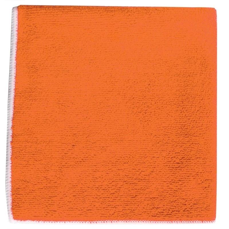 Micvrovezel Handdoek 40*40cm Oranje acc. Wit