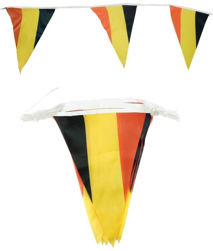 Polyester Vlaggenlijn (6,5 meter 15 vlaggen) Belgie