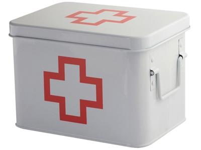First-aidkitbox,M,white,metal