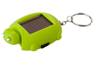 Keyring,Turtle,Flashlight,solar,green