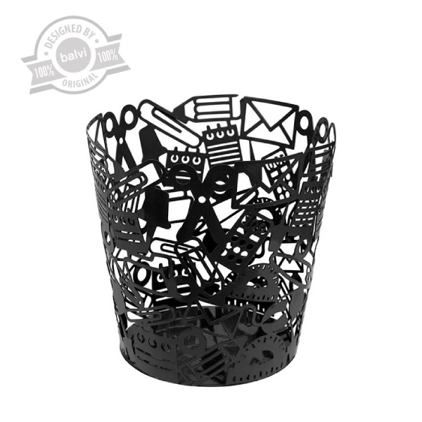 Wastebasket,Stationery,black,metal