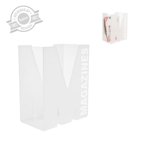 MagazineRack,Magz,white,acrilic
