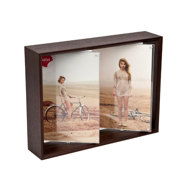 Frame,Twin Spin,2x 13x18,wengue,MDF