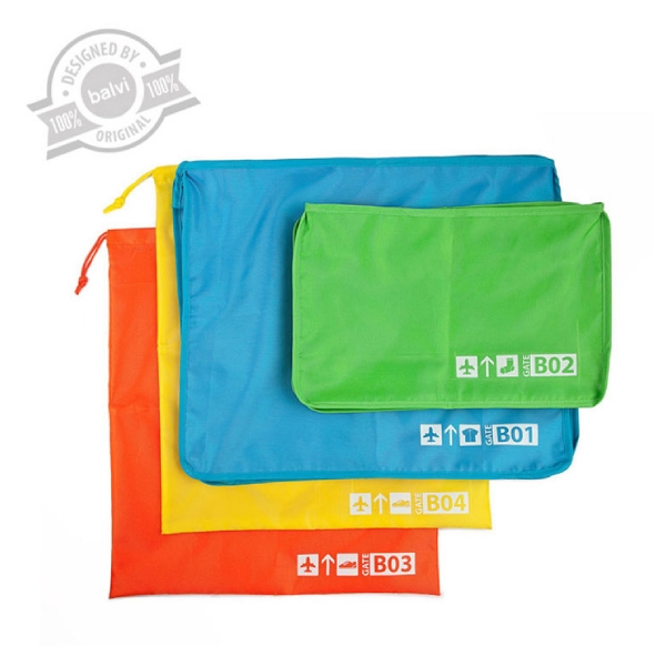 Travel bags set x4,polyester