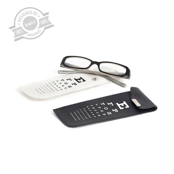 Glassescase,EyeTest,white/black,displayx20