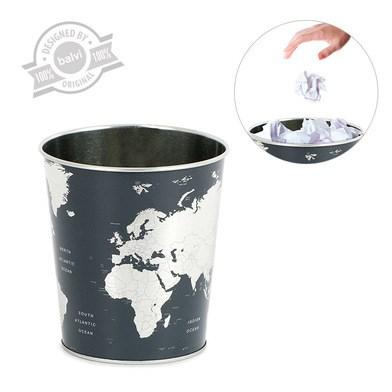 Wastebasket,Globe,tin