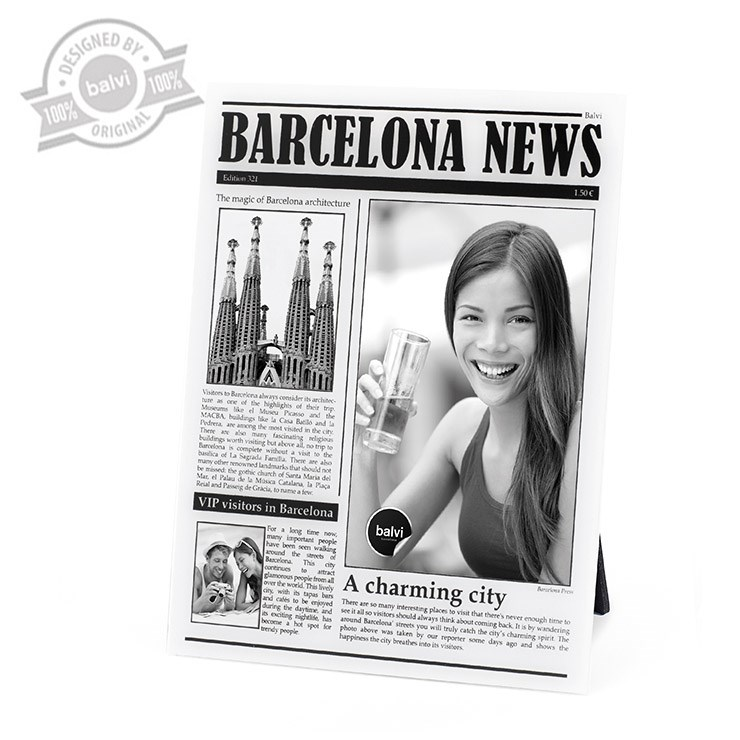 Frame,BarcelonaNews,acrilic