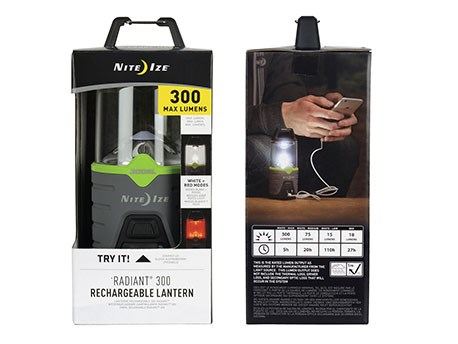Nite Ize Radiant 300 Rechargeable Lantaarn