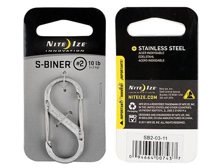 Nite Ize S-Biner 2 Stainless
