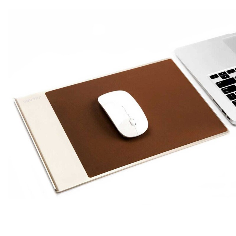 Aluminium with PU Leather Mouse Pad - cream
