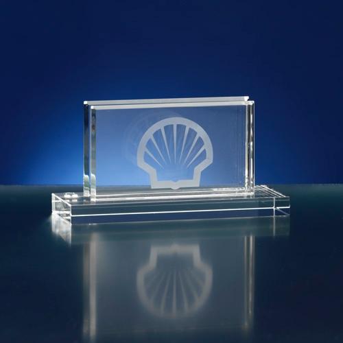 Visitekaarthouder van glaskristal
