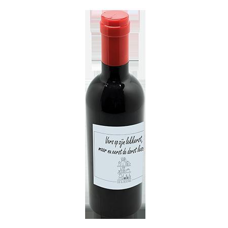 Wijnset in wijnflesvorm
