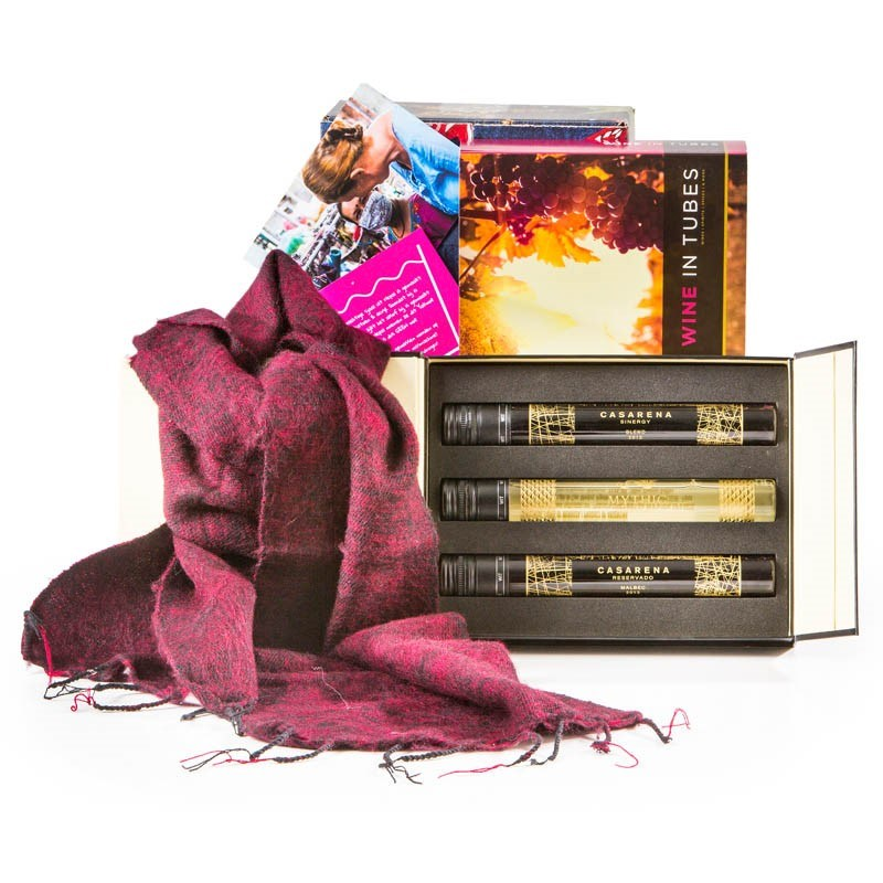 Kerstpakket Sjaal met Verhaal & Wijn Proeverij