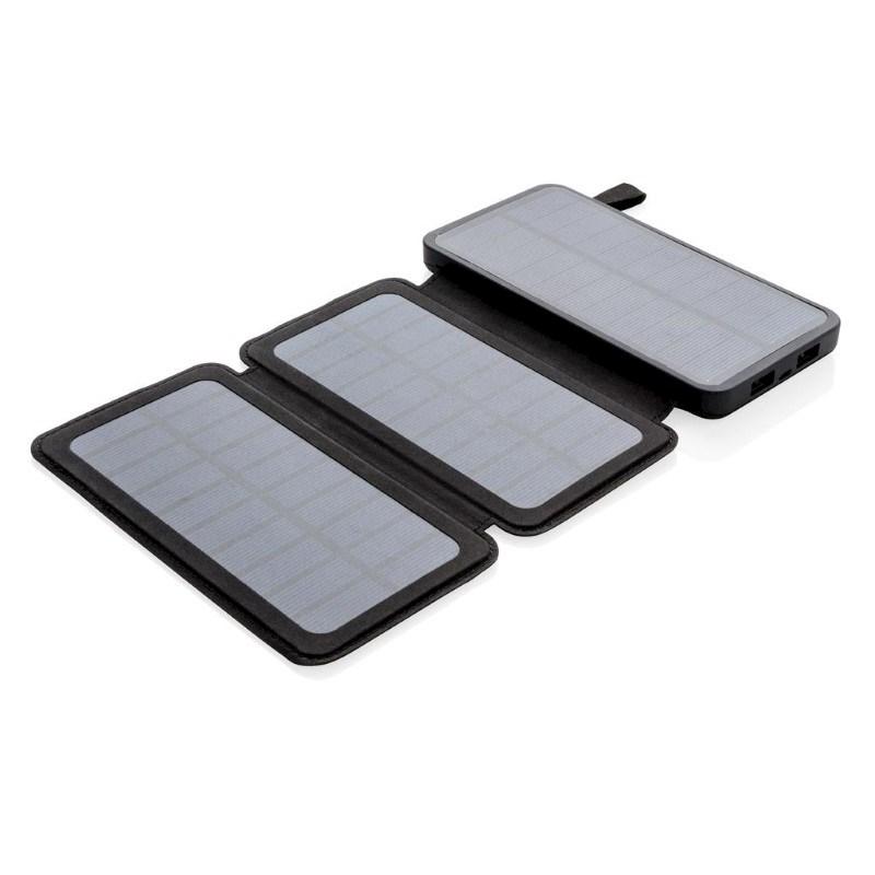 8000 mAh solar powerbank, zwart