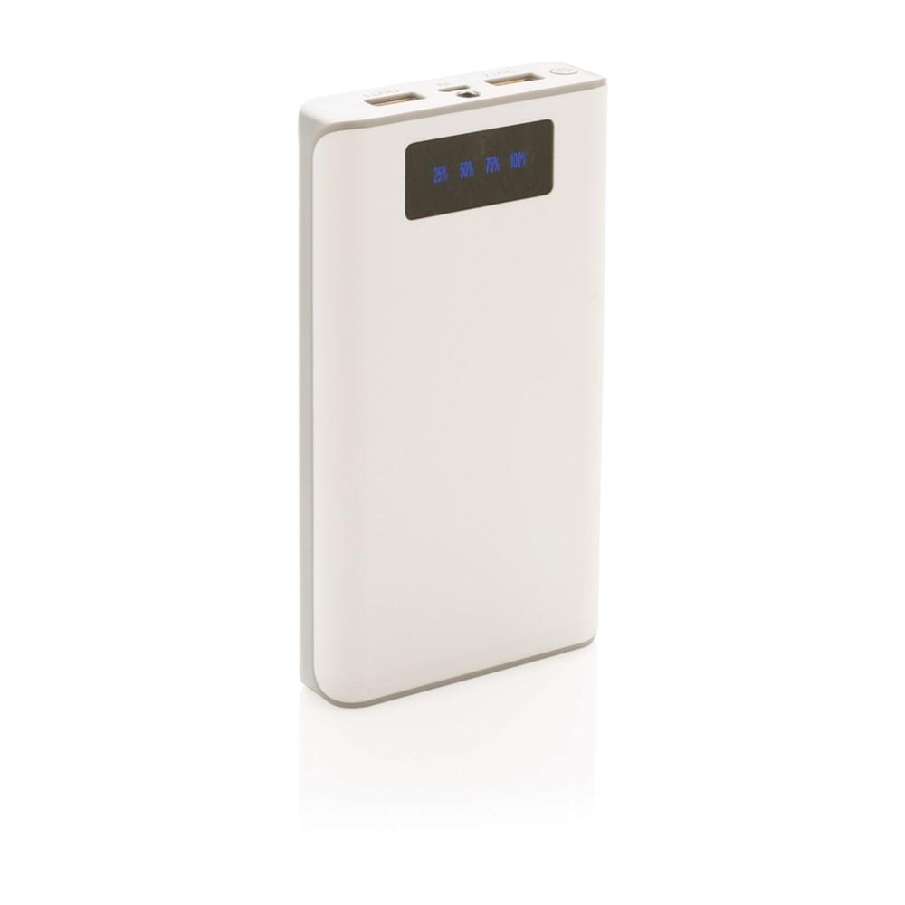 10000 mAh powerbank met display, wit