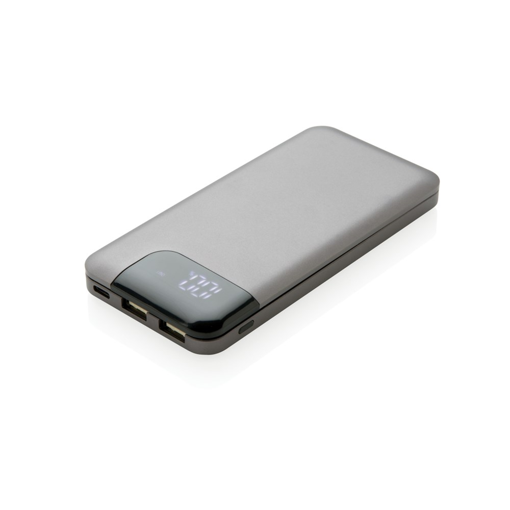 Swiss Peak 8000 mAh powerbank, grijs