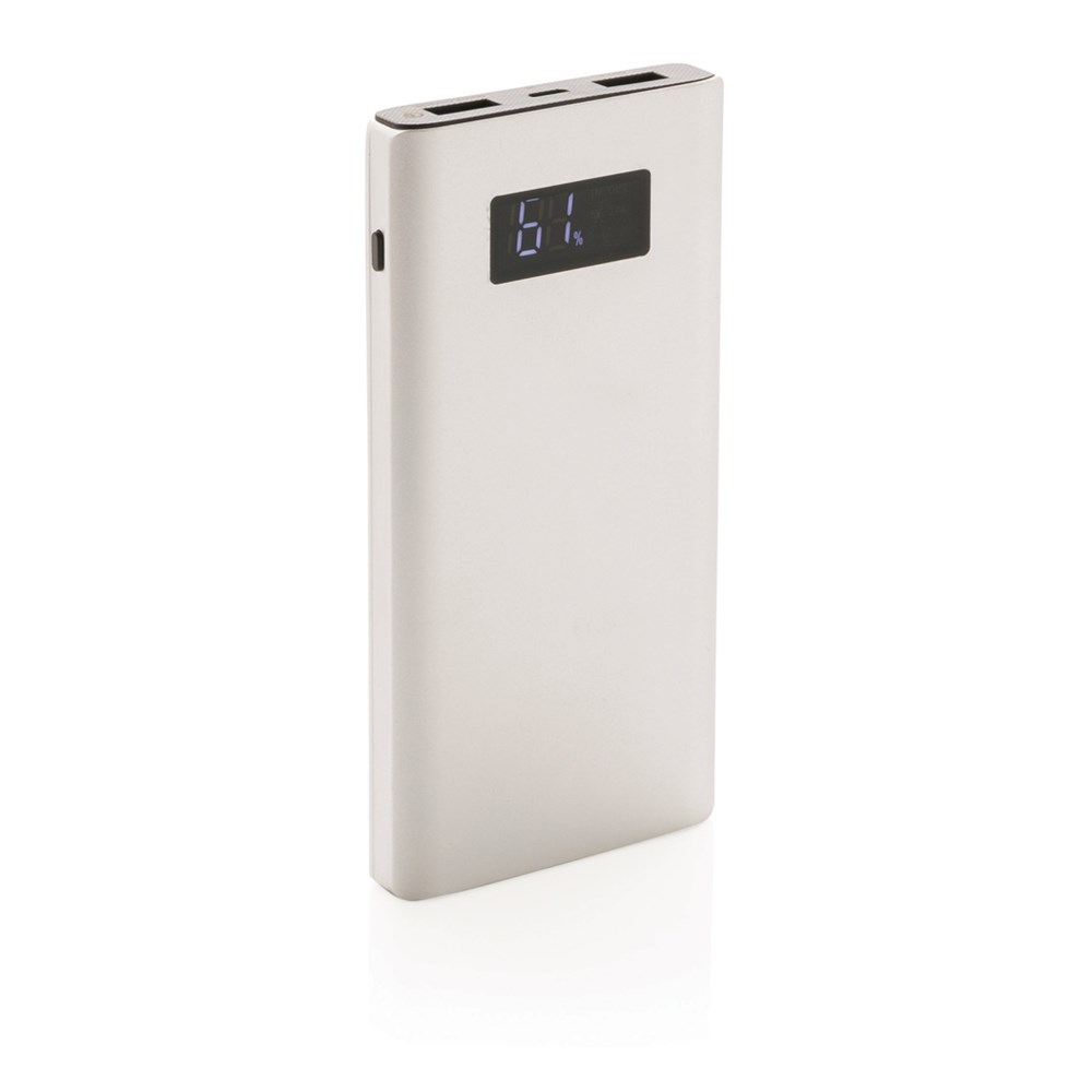 10000 mAh powerbank met quick charge output, zilver