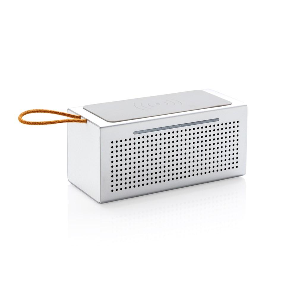 Vibe speaker met 5W draadloze oplader, grijs