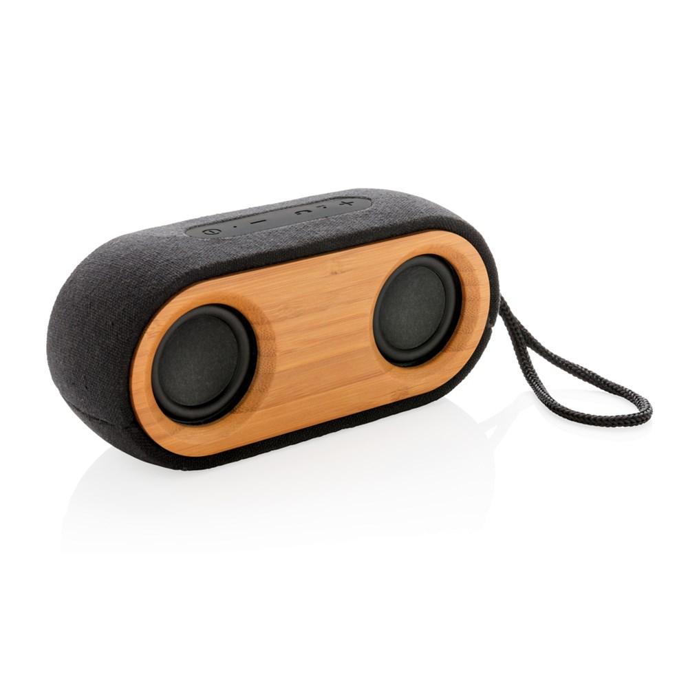 Bamboo X dubbele speaker, zwart