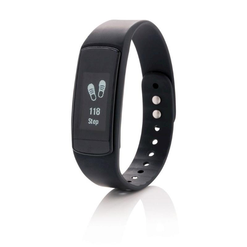 Activity tracker met touchscreen, zwart
