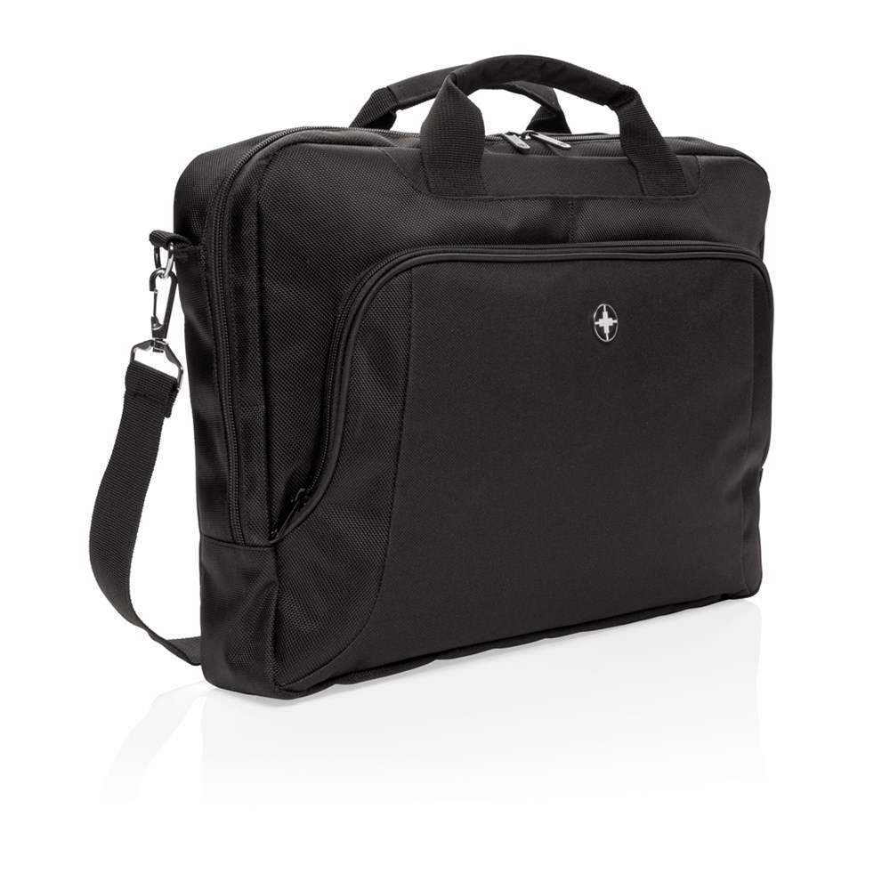 "Swiss Peak Deluxe 15"" laptop tas, zwart"