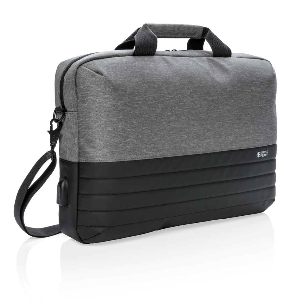 Swiss Peak RFID 15 laptoptas, grijs