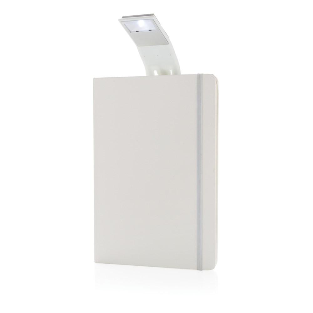 A5 notitieboek met LED leeslamp, zwart