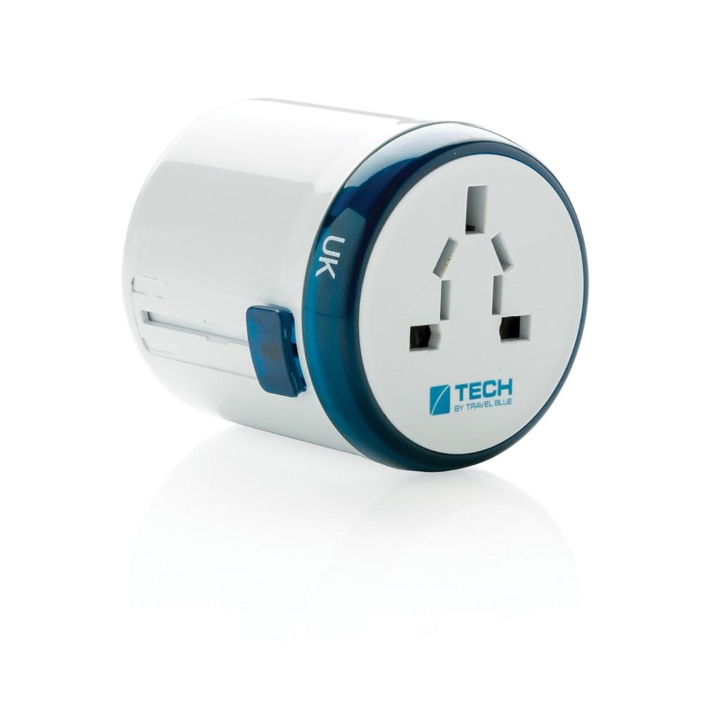 Travel Blue world travel adapter, wit