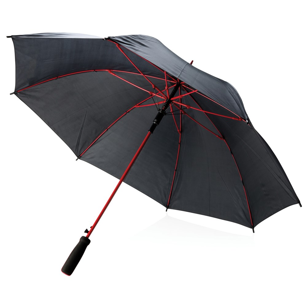 "23"" fiberglas gekleurde paraplu, rood"