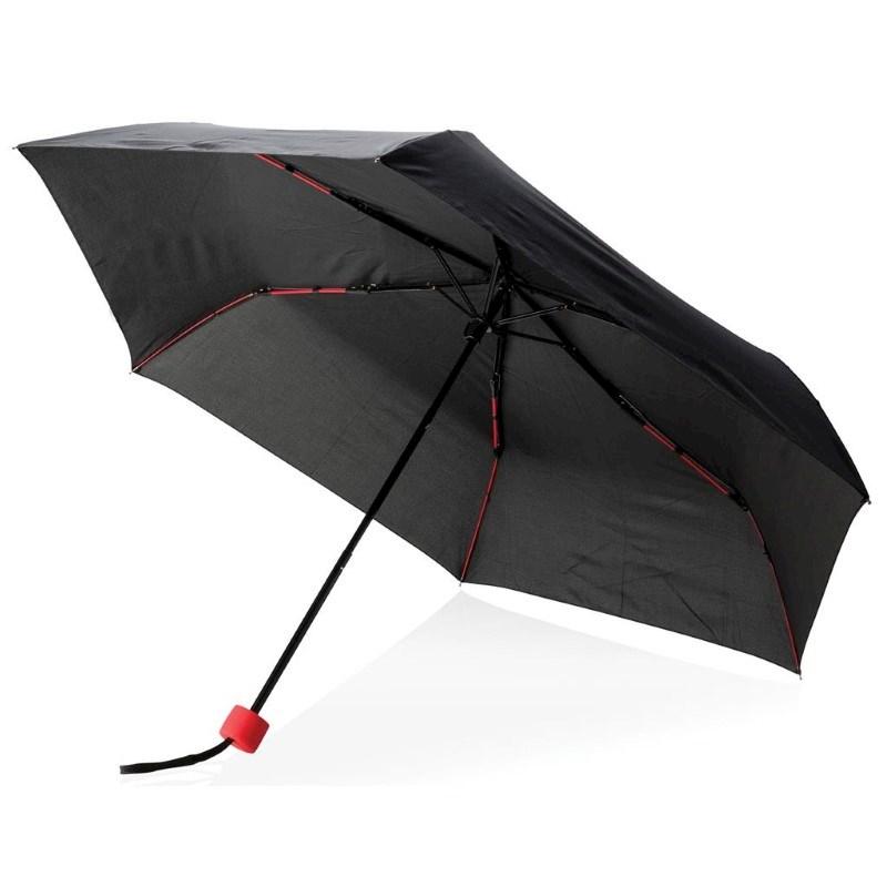 """21"""" fiberglas gekleurde opvouwbare paraplu, rood"""