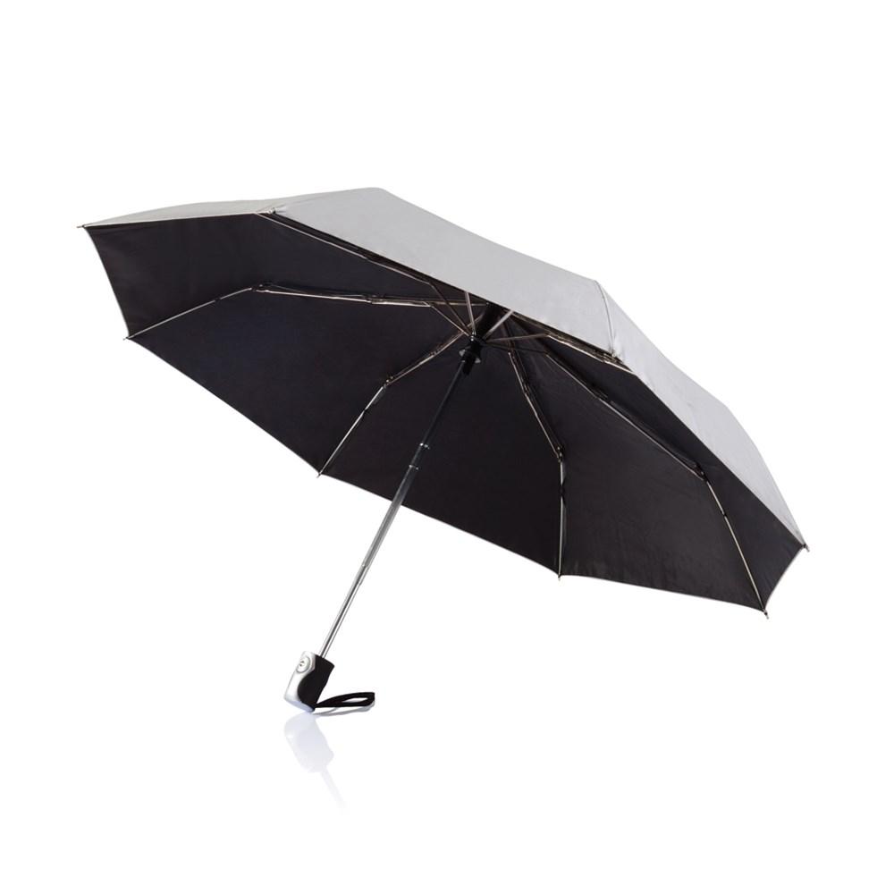 "Deluxe 21,5"" 2-in-1 automatische paraplu, zwart"