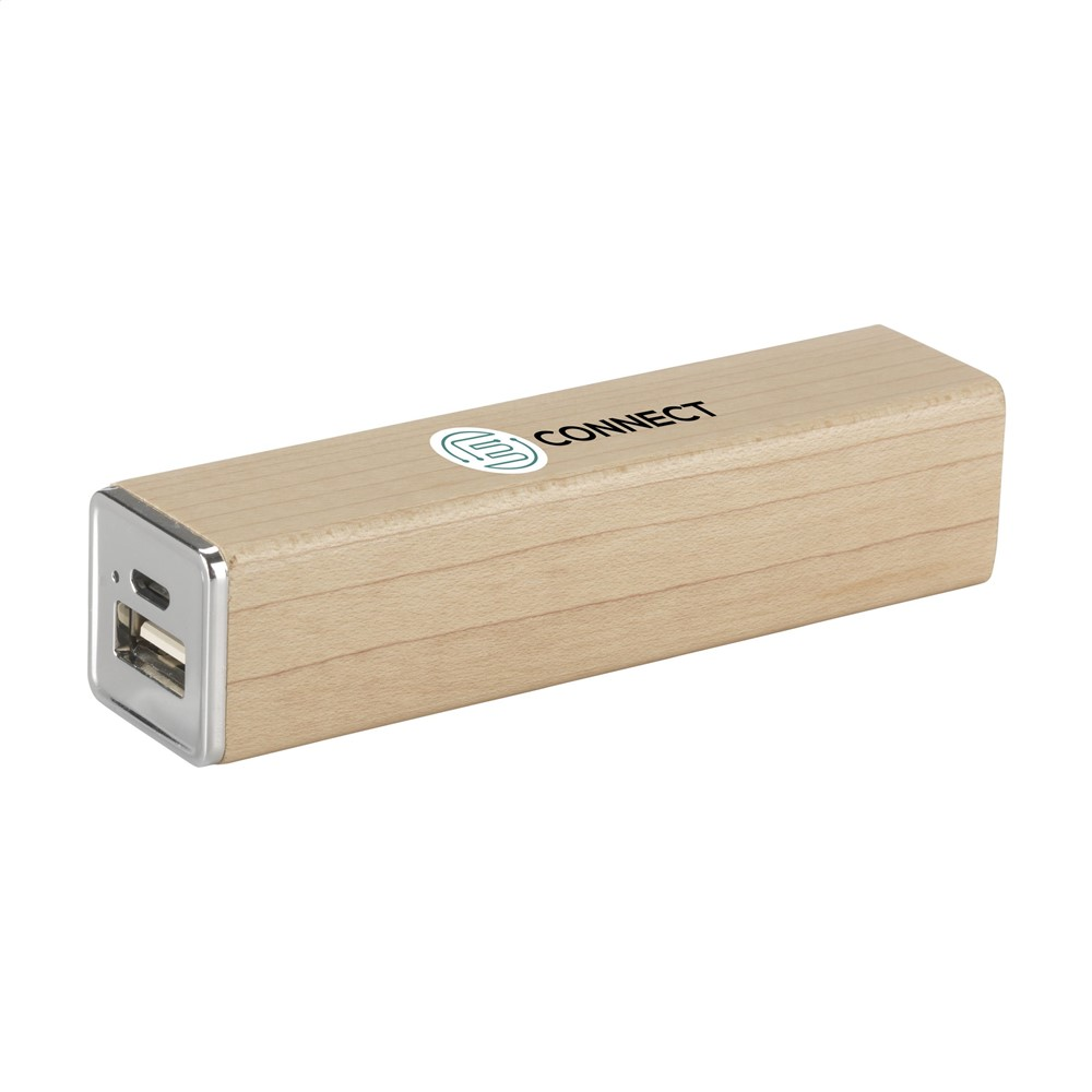 Powerbank 2000 Wood externe oplader