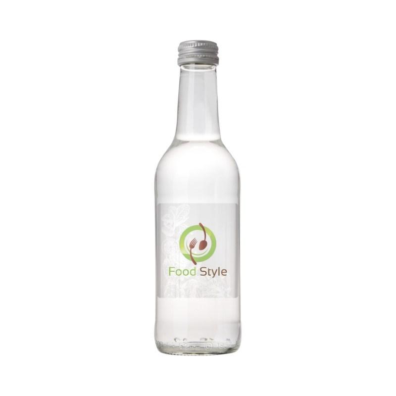 Glazen fles met 330 ml bronwater
