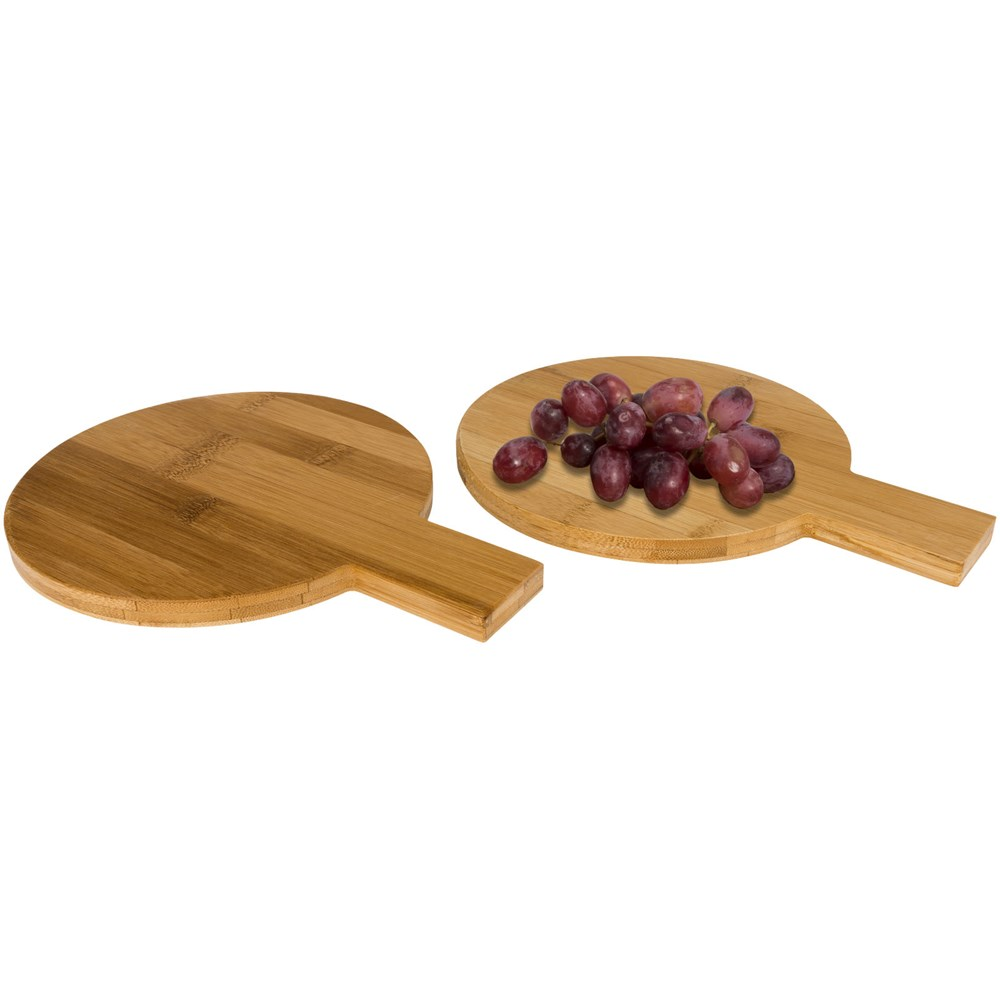 2 delige bamboe set amuse bordjes, ronde vorm