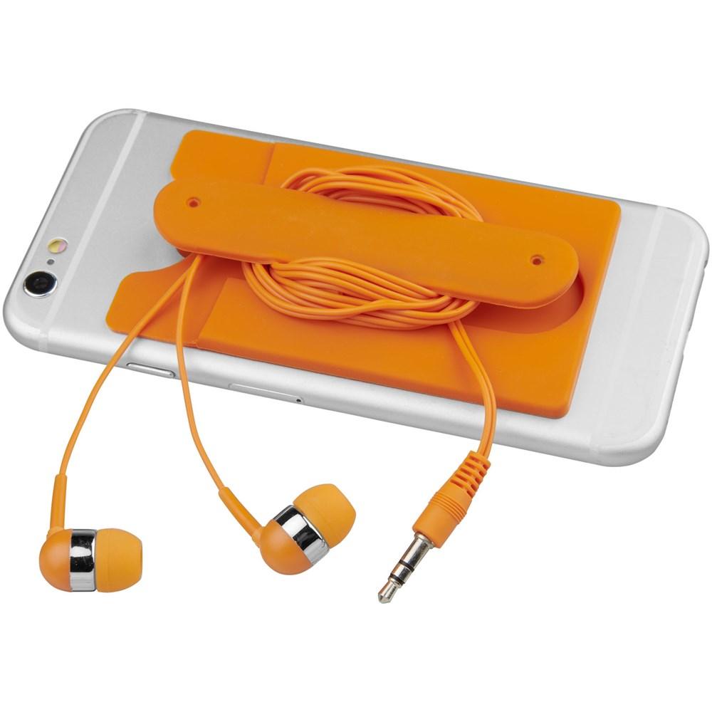 Wired oordopjes en silicone kaarthouder