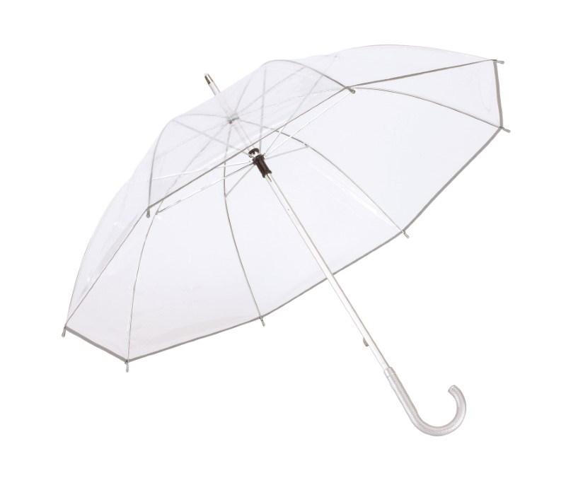 Alu-stick umbrellaPanoramixtransilver