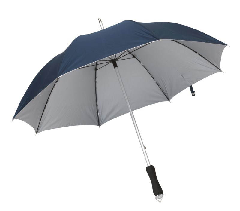 Alu-stick umbrella,Jokernavysilver