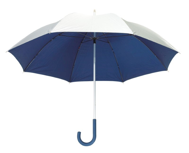 Alu-Golf umbrella Solaris silverblack
