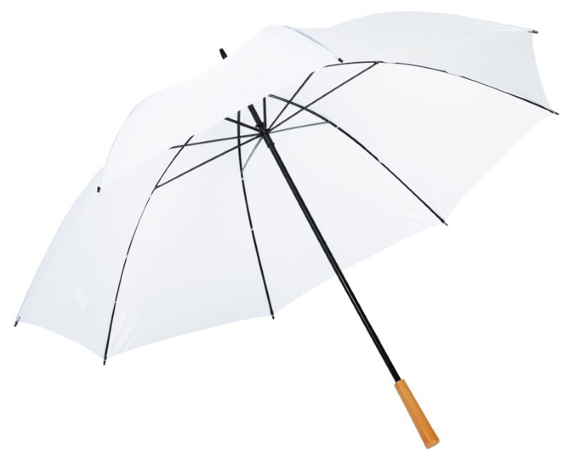 Golf umbrella,Raindrops,white