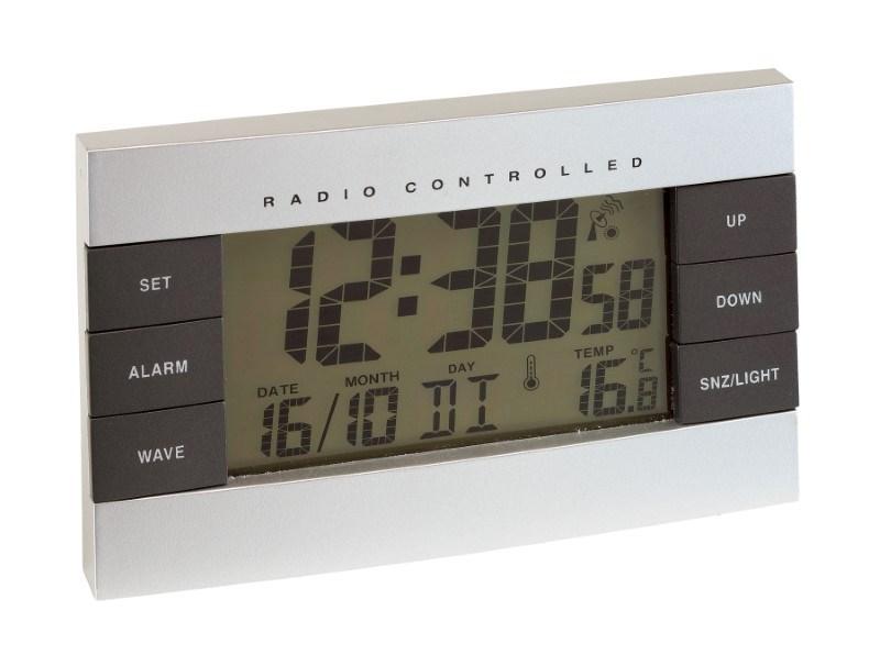 RC alarm clock No Limit, silver