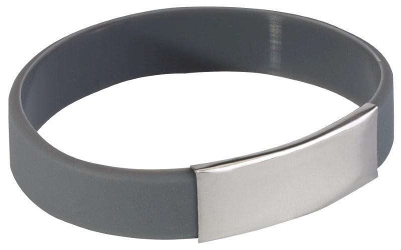 Silicon wristlet Strong, grey