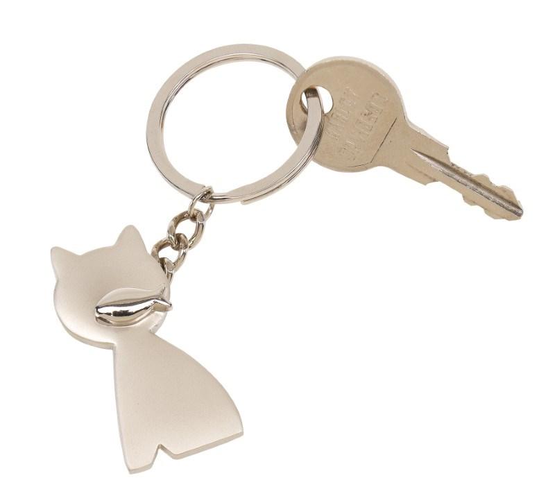 Metalen sleutelhanger CAT