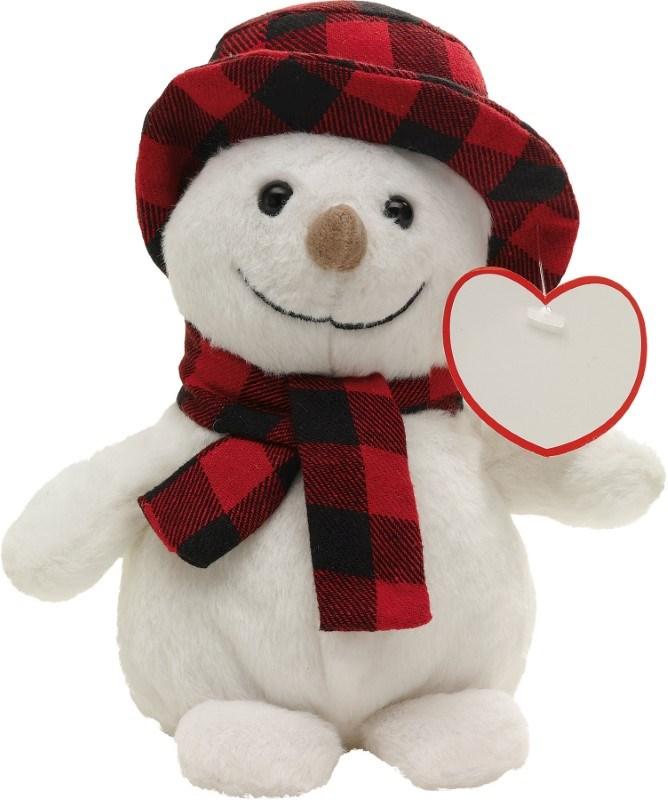 plush Snowman Johann, white